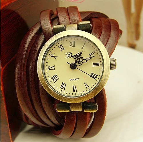 Circle Wrap Leather Watch by ChaiShop on Etsy. , via Etsy.