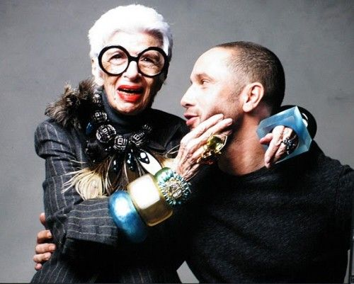 COLLECTIONNEUSE - Iris Apfel - Arm candy.....the bangles or Alexis Bittar??
