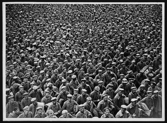 World War I German prisoners in France.