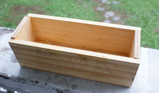 DIY: wooden loaf soap mold for cold process soap