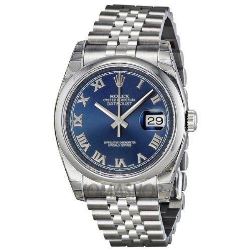 Rolex Datejust Blue Dial Stainless Steel Jubilee Bracelet Mens Watch 116200BLRJ $6,295.00