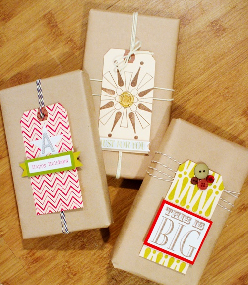 Kelly Purkey-great ideas for tags using large stamps