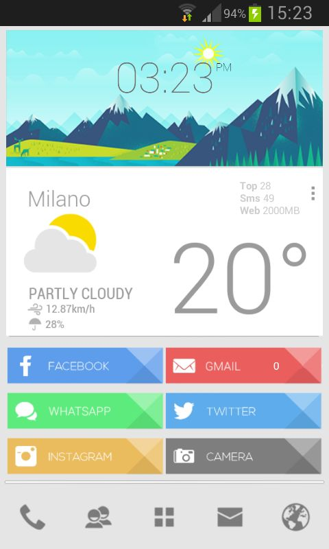 Google Now / mobile weather ui