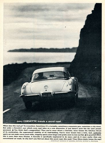 1960 Chevrolet Corvette Advertising Sports Car Illustrated July