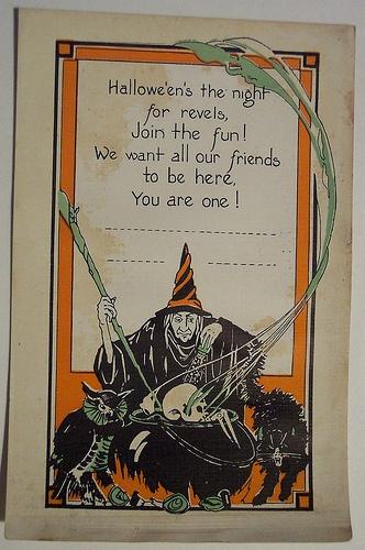 Vintage Halloween Postcard.