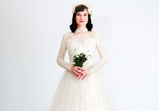 Weigh the pros and cons of donning a vintage wedding gown and consider which decade suits you best.  Good info!