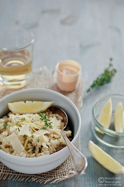 lemon, thyme, and fennel risotto
