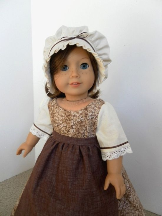"Pioneer outfit for 18"" doll."