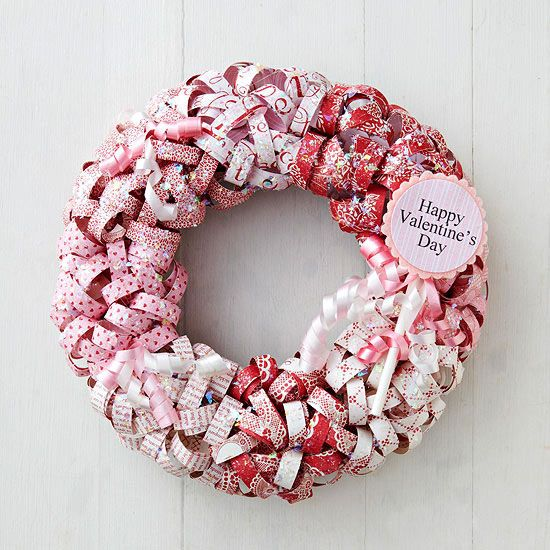Paper Curls Valentine Wreath