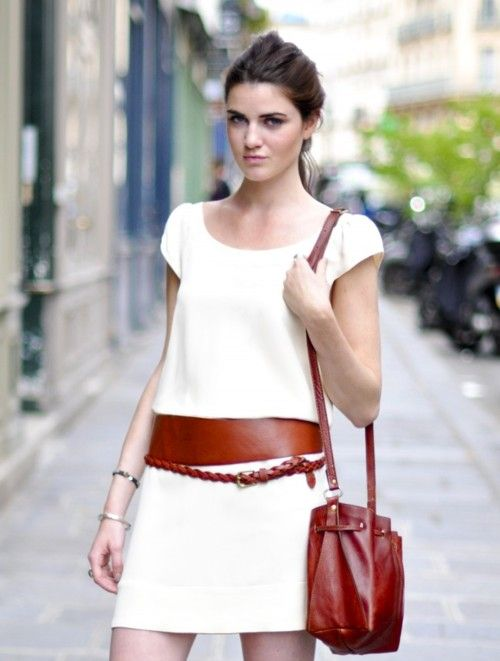 ...summer white..and leather belts~