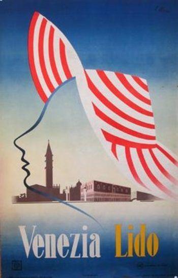 Vintage Italian travel poster: Venezia Lido  #vintage #travel #poster #italia