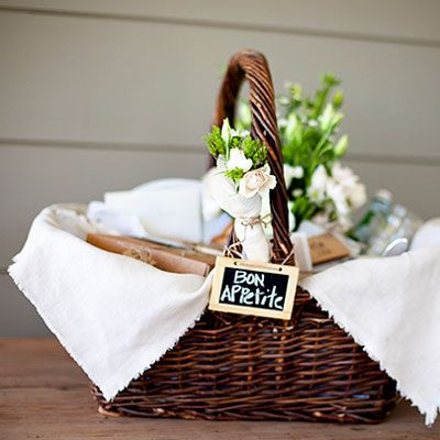 Picnic baskets.