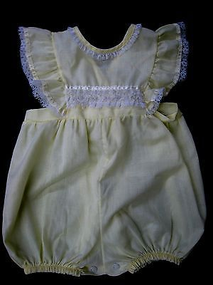 Vintage Fawn Togs baby girl romper / sunsuit.