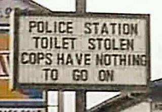 Police Station Toilet Stolen!