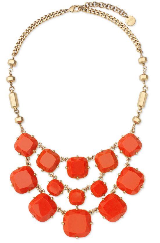 coral bib necklace