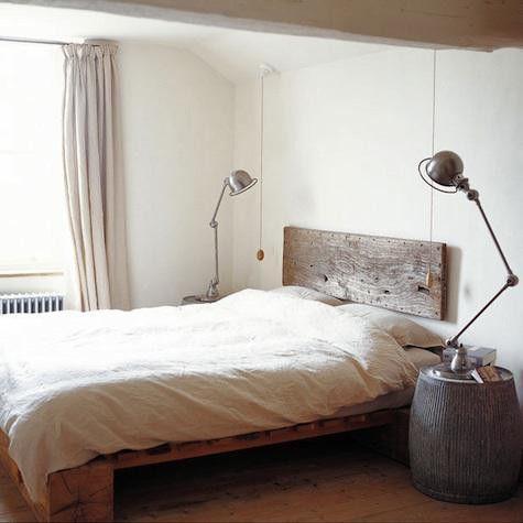 bedroom, industrial minimalism