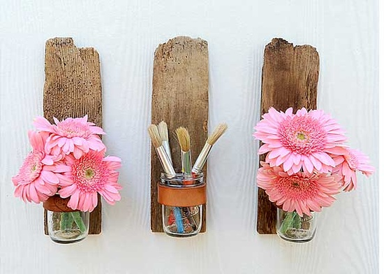 Mason Jar Sconce from Bourbon & Boots