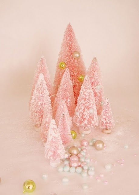 Little pink, sparkly trees