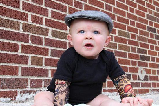 Black Heartbreaker tattoo sleeve onesie or by Thetattoodtyke, $20.00