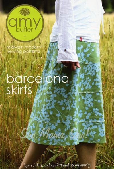 Barcelona Skirts   (Great pattern, although I  never wore the skirt I made from it until I finally shortened it to about knee length.  It was too matronly before that.  Now I wear it frequently & have plans for another.  Also, it's lined so I was able to use a lightweight muslin to keep the vintage poly-cotton floral fabric that I used from actually touching my skin.  Ew.)