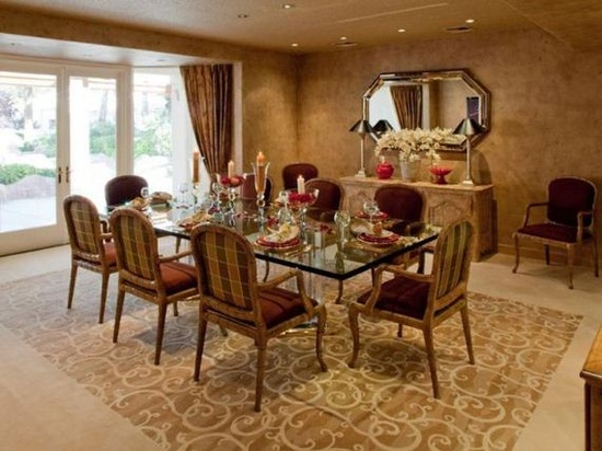 Very classy dining room