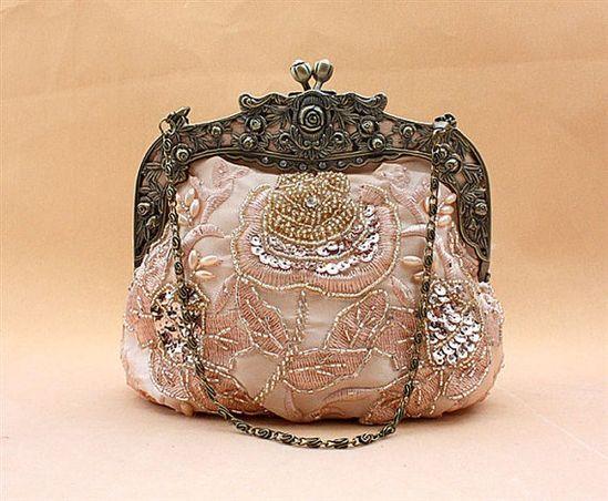 Glitter Clutch. Purse. Handbag. Vintage.