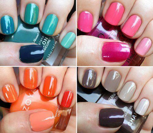 color + ombre nail art