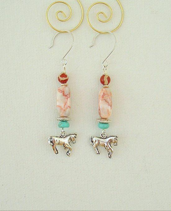 Boho Cowgirl Earrings Turquoise Jewelry Boho by BohoStyleMe