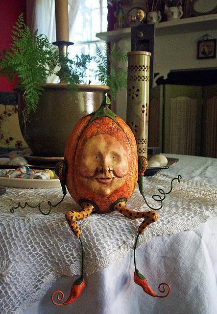 Halloween pumpkin person