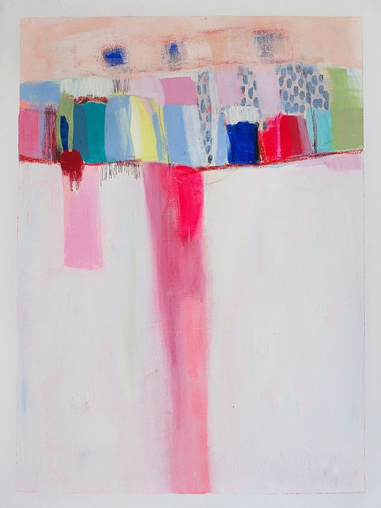 ABSTRACT painting, Giclee, Fine Art Print, white painting, pink, modern painting,