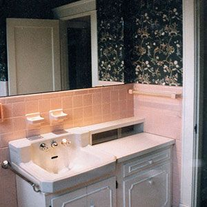 Before and After: Ugly pink Bathrooms