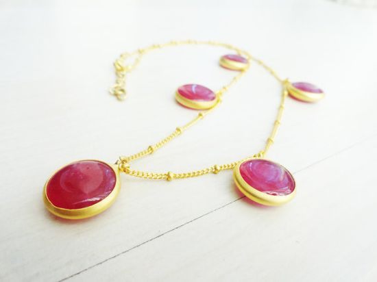 Purple charm necklace by Handemadeit, $27.00  www.handemadeit.e...  #jewelry #accessories #necklace #ethnic #pink #birthday #fashion #gold #Brown #pink  #shopping #charms