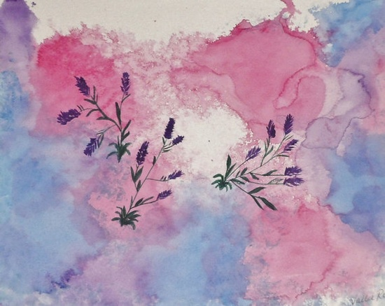 "Heavenly Flowers original watercolor by EnchantedRoseProduct, $20.00  Approximately 17"" x 12"" original watercolor of flowers floating on Zen-like background - frame to your desire to match the decor you wish. Sprayed with protective spray to eliminate discoloring. Previously featured in several galleries. Signed original. One of a kind."