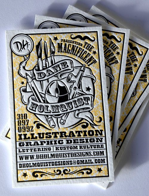 illustration and graphic design business cards