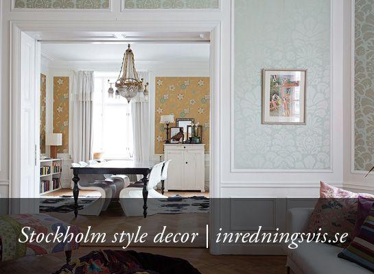 Stockholm style decor: inredningsvis.se/...