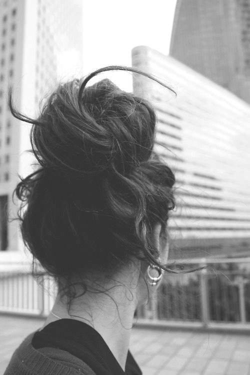 I love a messy bun.