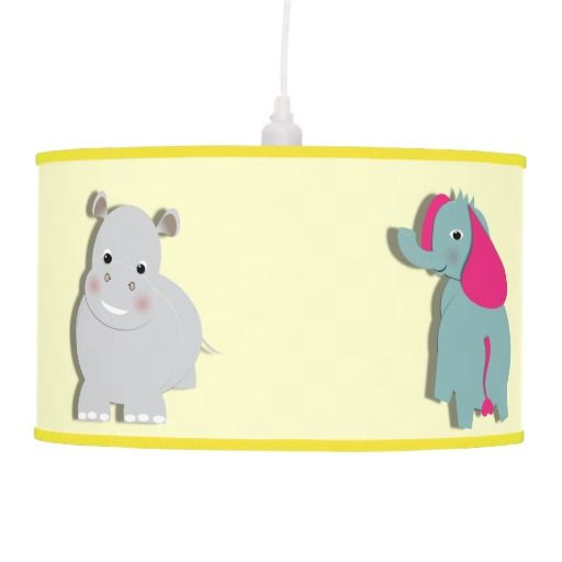 Cute Kids Whimsical Zoo Animals Themed Lamps