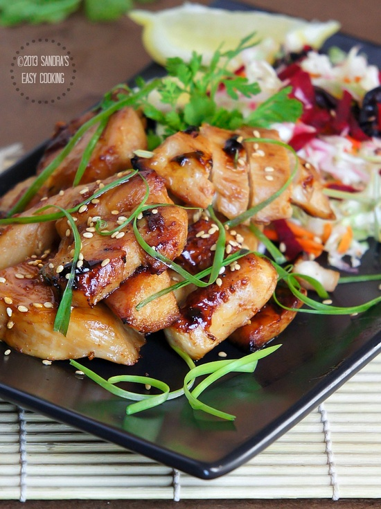 [JAPAN] Honey-Teriyaki Glazed Grilled Chicken by @SECooking