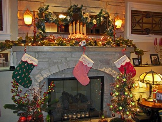 Christmas Fireplace DIY Decorations Ideas