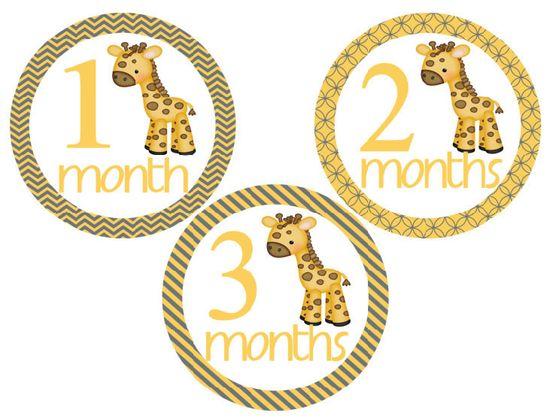 Baby Onesie Stickers Boy Giraffe. $9.00, via Etsy.