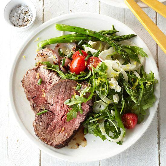 Grilled Beef Tenderloin & Arugula Salad