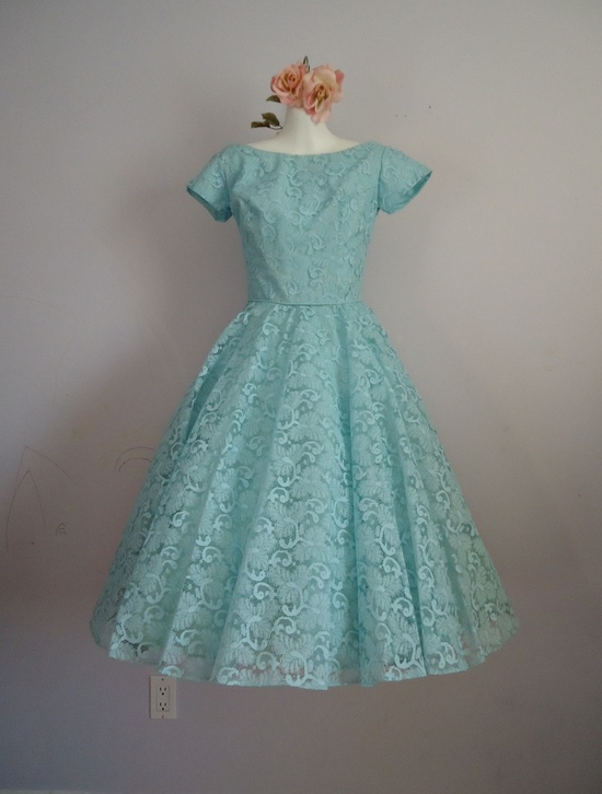 Vintage 1950's Prom Wedding Party Tea Length by MadMakCloset  Bianca