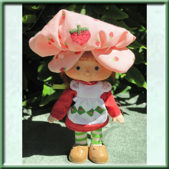 Strawberry Shortcake... I had one of these growing up... and she ACTUALLY SMELLED LIKE STRAWBERRY! They also had blueberry and lemon smelling dolls to go with her!