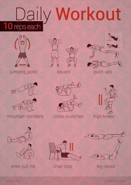 About 3sets of these would be a great home workout! Daily No Machine Workout #exercise