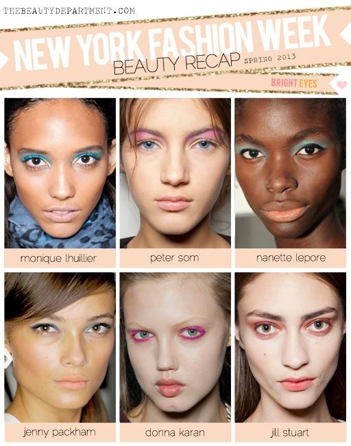 TBD NYFW Spring 2013 Bright Pastel Eyes