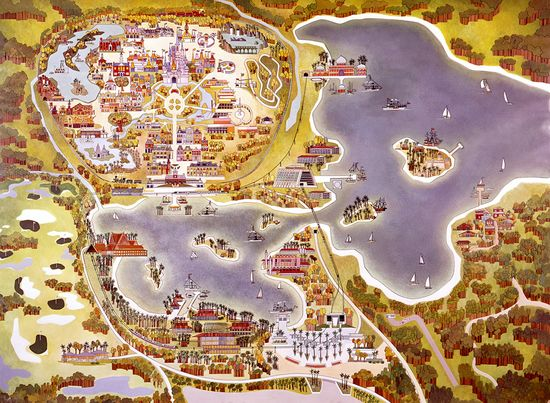Vintage Walt Disney World Resort Map