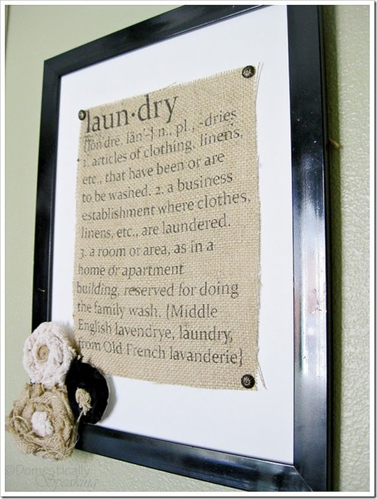 Burlap Laundry Sign