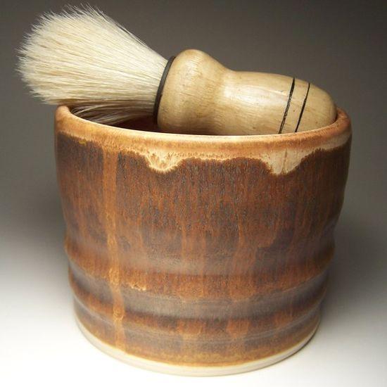 Shaving mug by OlliePots $26