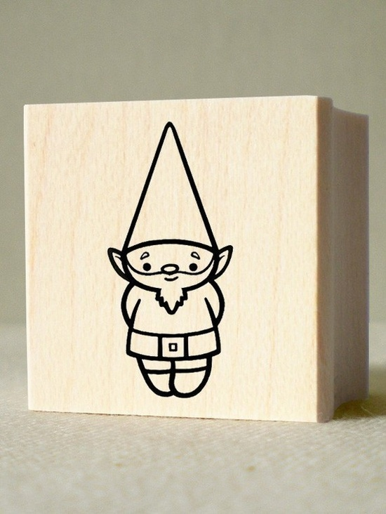 Gnome stamp for $5 at nikoart's etsy shop