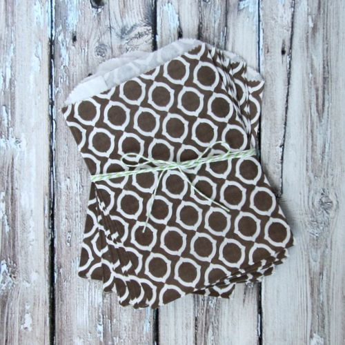 Favor Bags - Brown + White Graphic Pattern - Medium